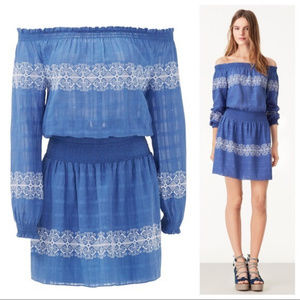 Tory Burch Loretta blue Off the Shoulder Dress